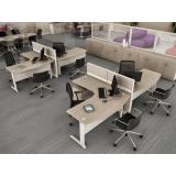 mesa de escritório estação de trabalho preço no Santo André
